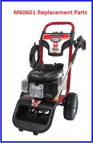 SIMPSON M60601 Pressure Washer Parts, Accessories, Breakdown & Owners Manual